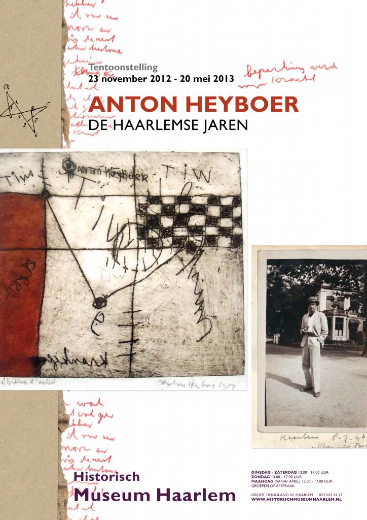 Tentoonstellingsaffiche Anton Heyboer